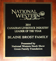 Canadian Livestock Industry Leader of the Year